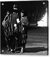 Navajo's Dance  Night Fire Rodeo Grounds Inter-tribal Indian Rodeo Gallup New Mexico 1969 Acrylic Print