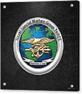 Naval Special Warfare Group Three - Nswg-3 - On Black Acrylic Print