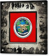 Naval Special Warfare Group Three - N S W G-3 - Over Navy S E A Ls Collage Acrylic Print