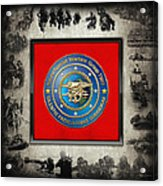 Naval Special Warfare Group Two - N S W G-2 - Over Navy S E A Ls Collage Acrylic Print