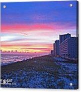 Navarre Beach Fl 2013 10 30 I Acrylic Print
