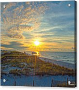Navarre Beach Sunrise 2014 09 26 01 C 0650 Acrylic Print