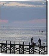 Navarre Beach Sunset Pier 10 Acrylic Print