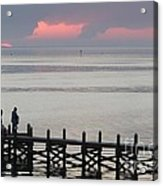 Navarre Beach Sunset Pier 20 Acrylic Print