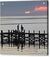 Navarre Beach Sunset Pier 25 Acrylic Print