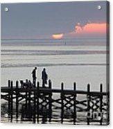 Navarre Beach Sunset Pier 27 Acrylic Print