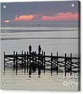 Navarre Beach Sunset Pier 28 Acrylic Print
