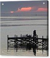Navarre Beach Sunset Pier 29 Acrylic Print