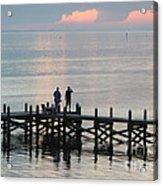 Navarre Beach Sunset Pier 35 Acrylic Print