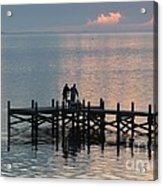 Navarre Beach Sunset Pier 37 Acrylic Print