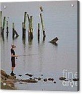 Navarre Beach Sunset Pier 4 Acrylic Print