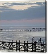 Navarre Beach Sunset Pier 8 Acrylic Print