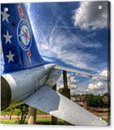 Navy A-7 Fighter Static Display Acrylic Print
