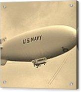 Navy Blimp Acrylic Print