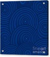 Navy Blue Abstract Acrylic Print