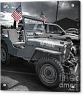Navy Jeep Acrylic Print