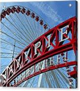 Navy Pier Ferris Wheel Acrylic Print by James Hammen