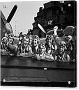 Navy Pilots Celebrate On The Uss Acrylic Print
