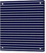 Navy Pinstripe 2 Acrylic Print