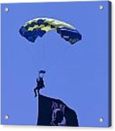 Navy Seal Leap Frogs Pow Flag Acrylic Print