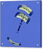 Navy Seals Leap Frogs One Upside Down Acrylic Print
