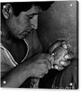 Nazca Stone Cutter Acrylic Print