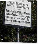 Nc-a37 Elizabeth City State University Acrylic Print