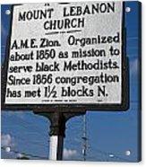 Nc-a43 Mount Lebanon Church Acrylic Print