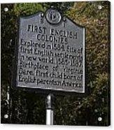 Nc-b1 First English Colonies Acrylic Print