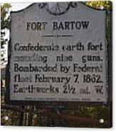 Nc-bbb2 Fort Bartow Acrylic Print