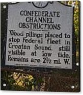 Nc-bbb3 Confederate Channel Obstructions Acrylic Print