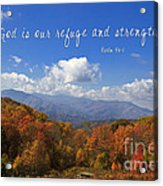 Nc Mountains With Scripture Acrylic Print