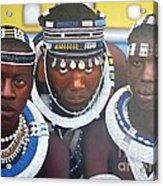 Ndebele Initiates Acrylic Print