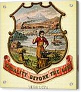 Nebraska Coat Of Arms -1876 Acrylic Print