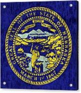 Nebraska Flag Acrylic Print by World Art Prints And Designs