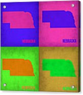 Nebraska Pop Art Map 1 Acrylic Print