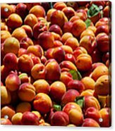 Nectarines For Sale At Weekly Market Acrylic Print