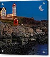 Neddick Lighthouse Acrylic Print