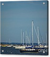 Ned's Point Lighthouse With Sailboats Acrylic Print