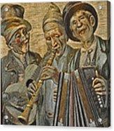 Needlepainting Musicians Acrylic Print