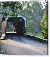 Neff's Mill Covered Bridge Lancaster County Acrylic Print