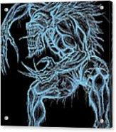 Negative Werewolf Acrylic Print by Michael Mestas