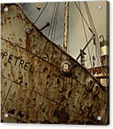 Neglected Whaling Boat Acrylic Print by Amanda Stadther