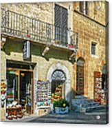 Negozi Toscani Acrylic Print