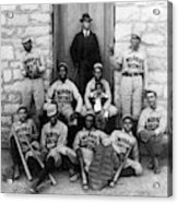 Negro Baseball Acrylic Print