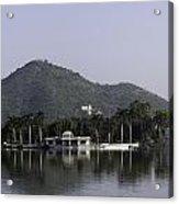 Nehru Garden In The Fateh Sagar Lake In Udaipur Acrylic Print