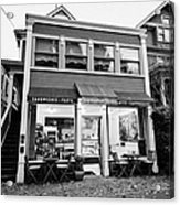 neighbourhood grocery and small deli in west end Vancouver BC Canada Acrylic Print by Joe Fox