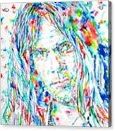 Neil Young - Watercolor Portrait Acrylic Print