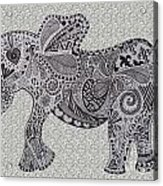 Nelly The Elephant Grey Acrylic Print