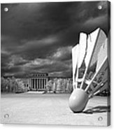 Nelson Akins Art Museum In Infrared Acrylic Print